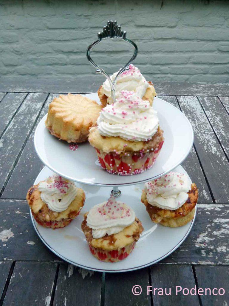 Rhabarber-Cupcakes, Cupcakes