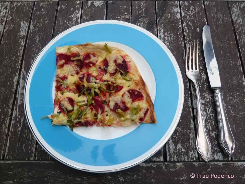 flammkuchen vegetarisch rote Bete