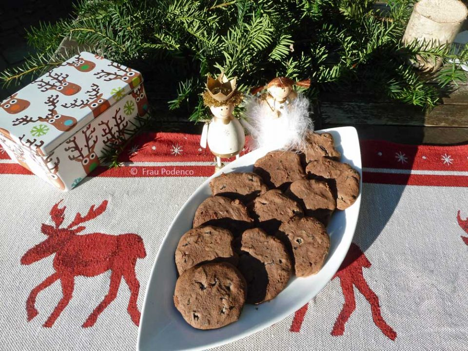 chocolate-cookies, schokoladenkekse rezept