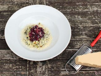 Risotto mit Spinat und Radicchio Rezept