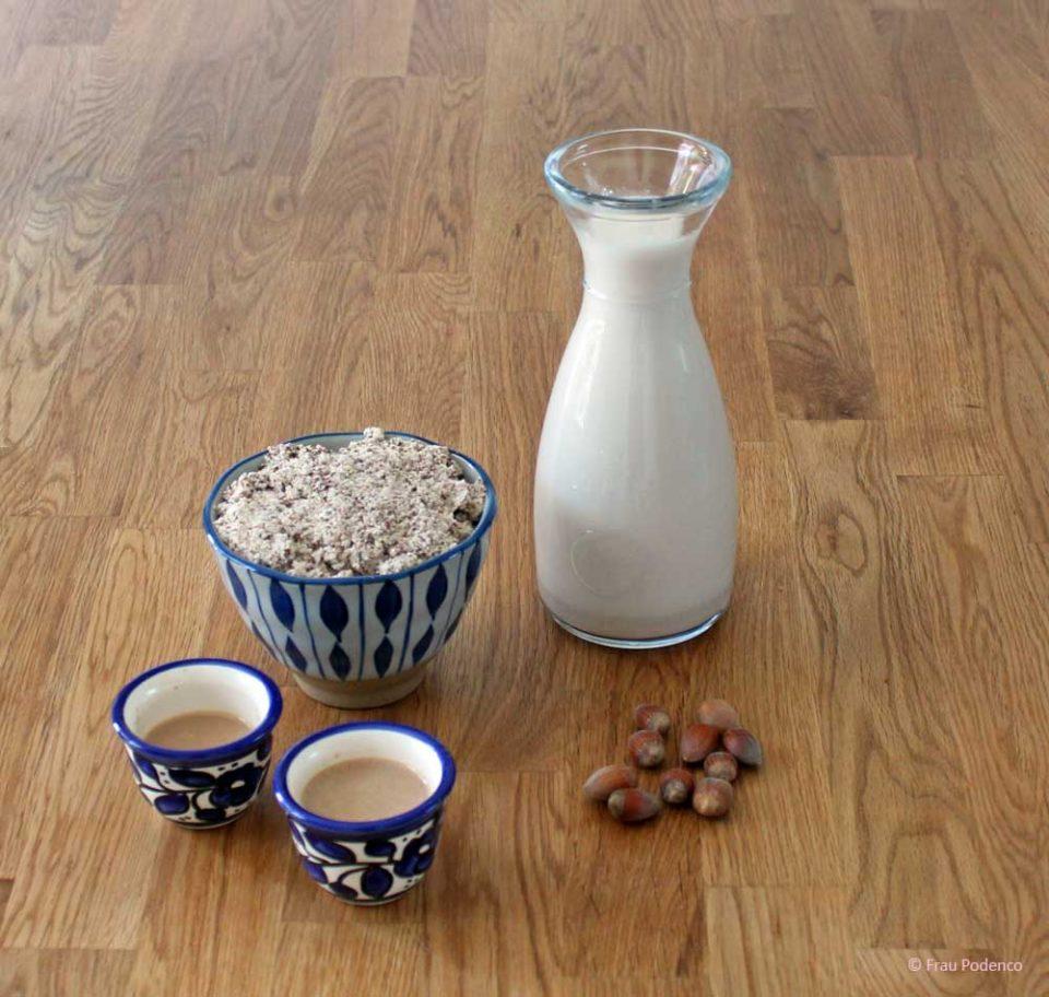 Haselnussmilch rezept