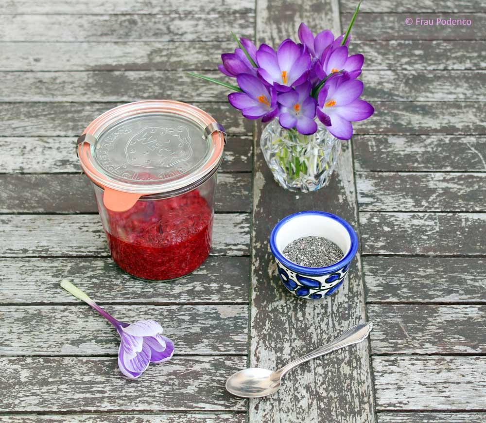 Himbeermarmelade ohne Zucker kochen