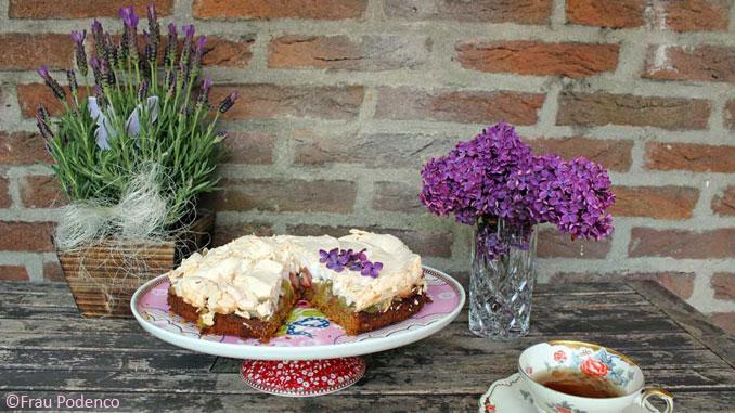 Rhabarber-Baiser-Kuchen, einfaches Rezept