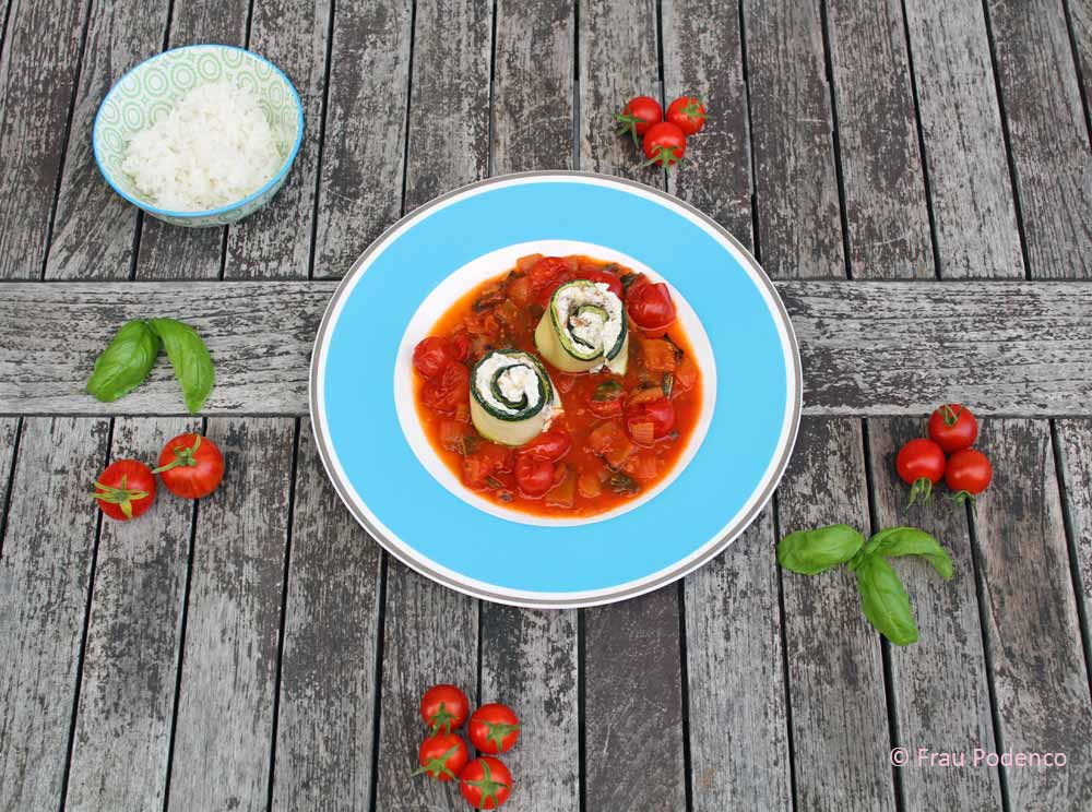 Sommerküche Low Carb : Zucchini röllchen mit ziegenfrischkäse gefüllt rezept
