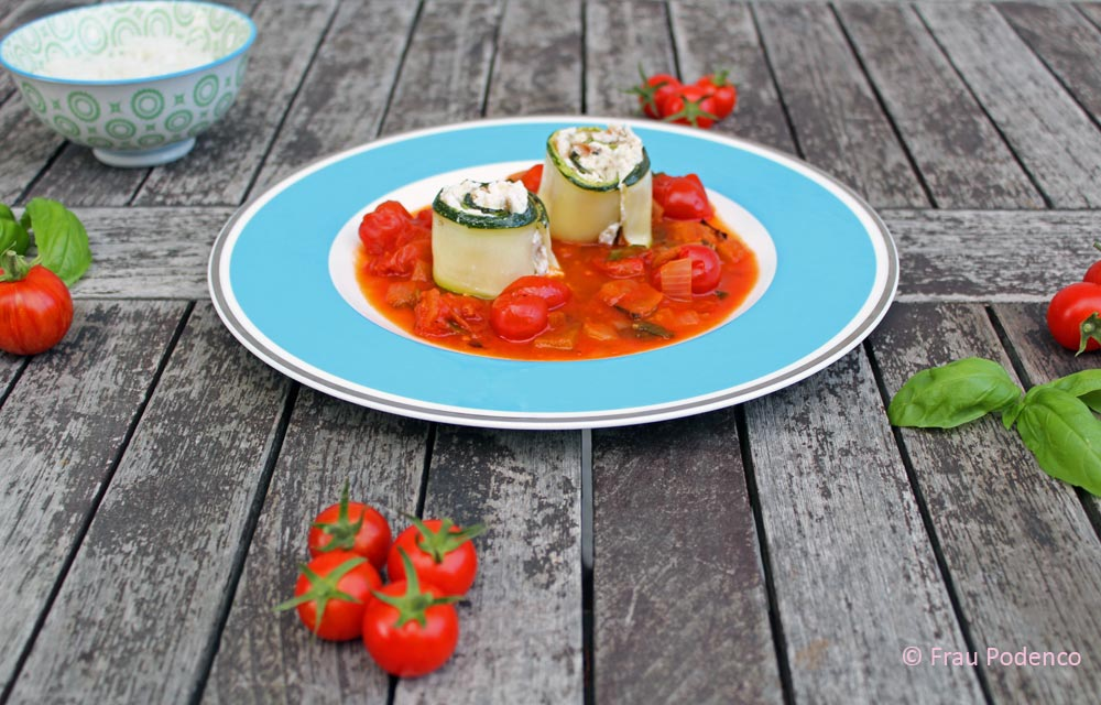 Sommer Küche Rezept : Zucchini röllchen rezept sommerküche gesund frau podenco