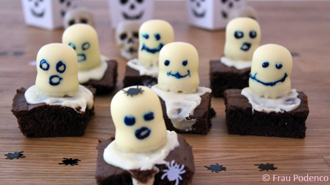 Rezept Halloween, Gruselige Brownies