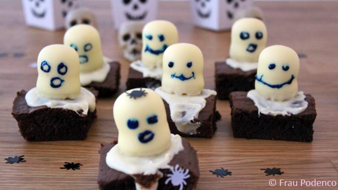 Rezept Halloween, Gruselige Brownies