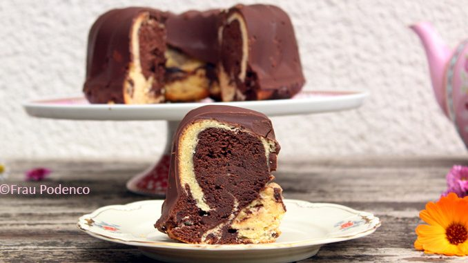 Marmorkuchen Mit Perfekter Schokoladenglasur Rezept