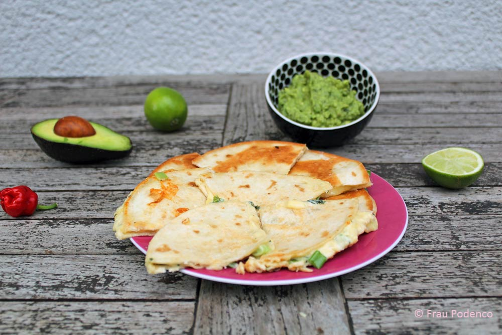 mexikanisch vegetarisch kochen: quesadillas mit guacamole