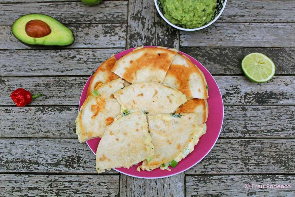 rezept für quesadillas mit guacamole
