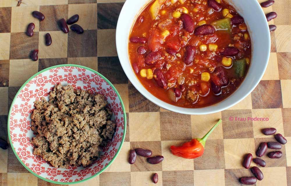 chili sin carne, veganes rezept