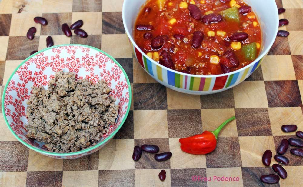 vegan und vegetarische Rezepte Chilis in carne