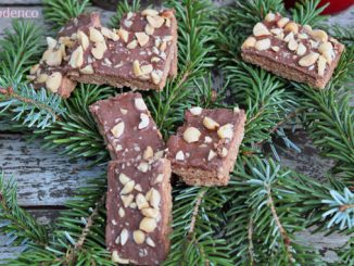 plätzchen backen mit Schokolade und Erdnussbutter