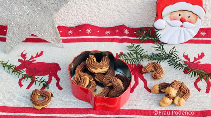 kekse mit schokolade und erdnussbutter