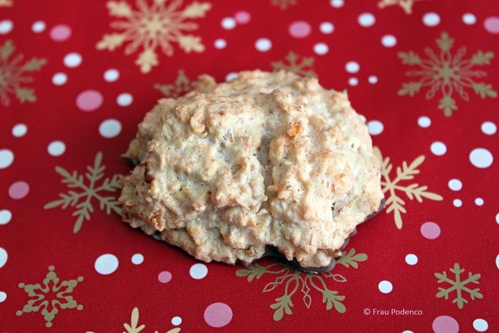 Weihnachtsplätzchen backen mit Kokos