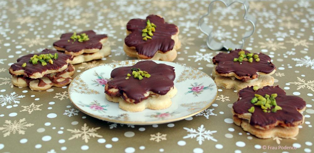 Rezept Kekse Marzipan Schokolade