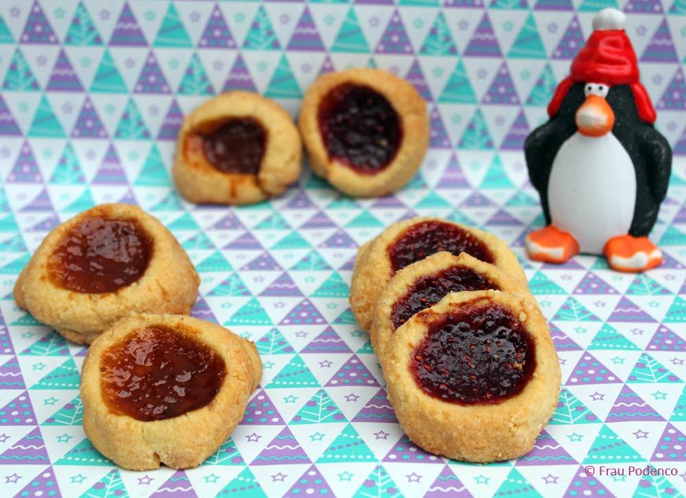 kekse rezept weihnachten ochsenaugen