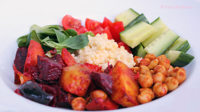 Rezept für vegane Buddha Bowl