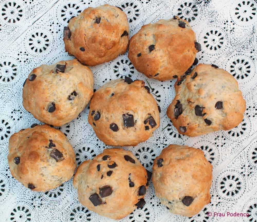 schokobrötchen wie vom Bäcker, Rezept einfach und schnell