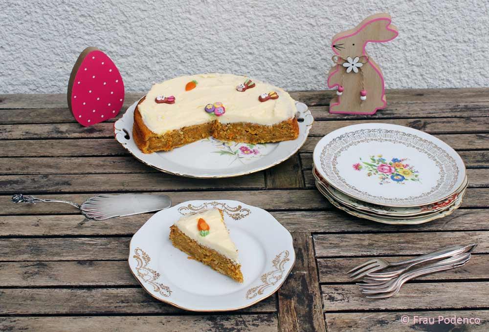 carrot cake zu Ostern backen einfach lecker