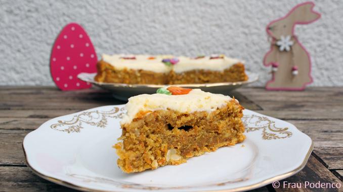 carrotcake mit creamscheese frosting backen zu ostern