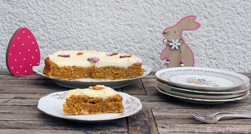 carrot cake, Möhrenkuchen, Rüblikuchen backen