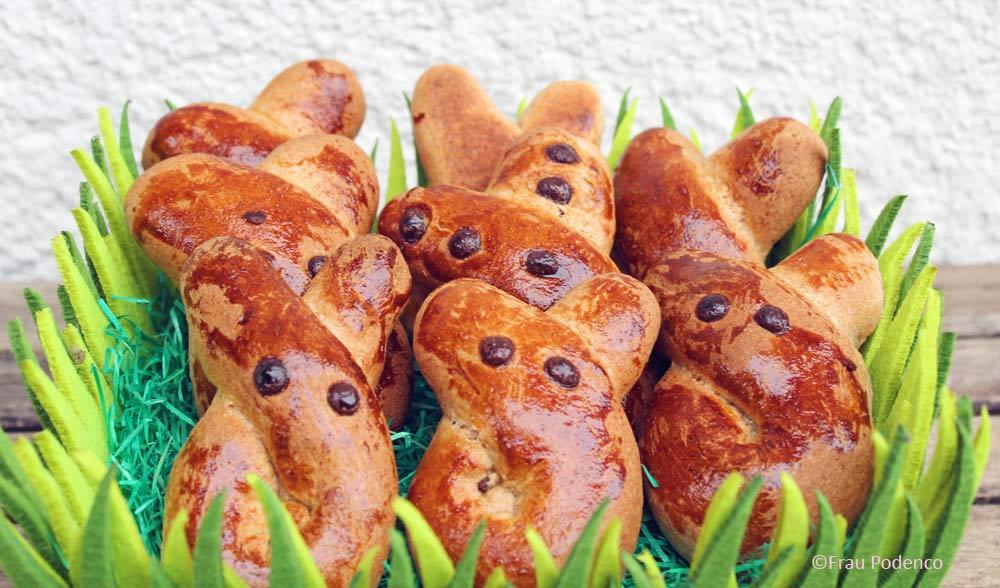 gesunde Hefehasen Osterbäckerei