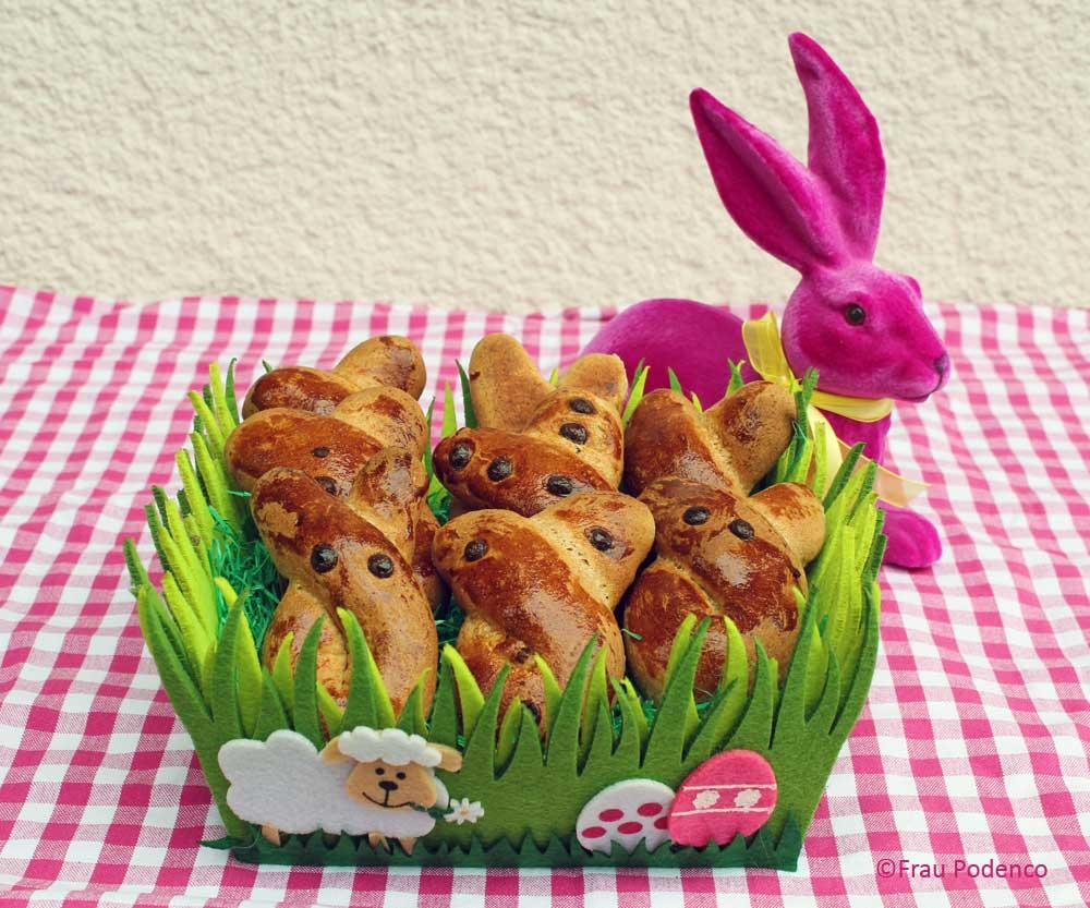 gesuhnde hefehasen rezpept fürs Osterfrühstück