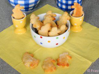 Osterhasen aus Quark-Öl-Teig backen Rezept zu Ostern