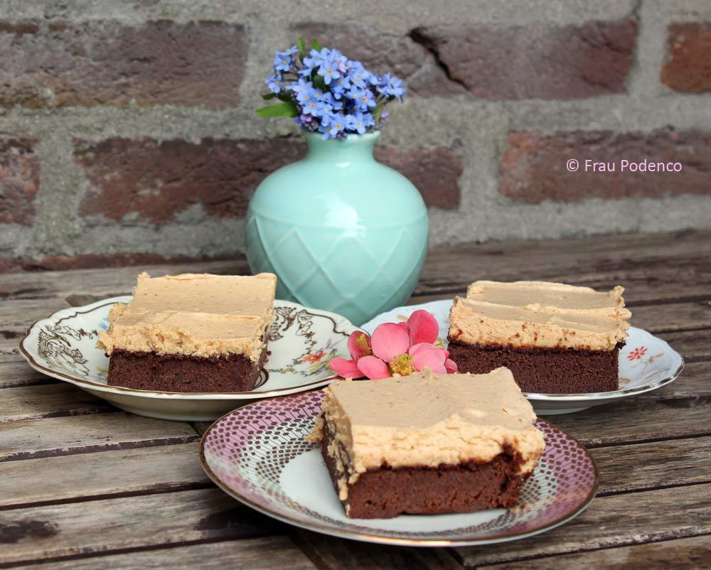 Brownie mit Erdnussbutter-Topping lecker einfach schnell