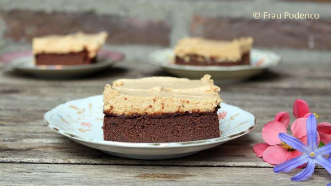 Brownie mit Erdnussbutter-Topping Rezept