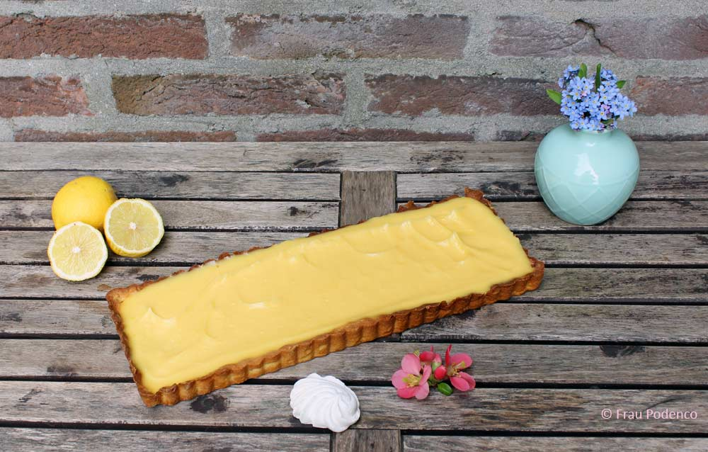 zitronen-tarte rezept für zitronenkuchen