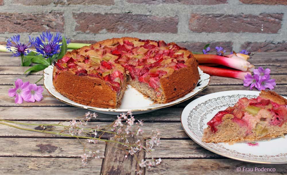 erdbeer-rhabarberkuchen rezept einfach