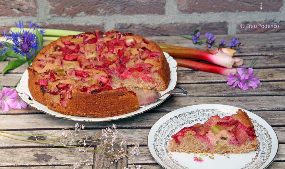 erdbeer-rhabarberkuchen Rezept